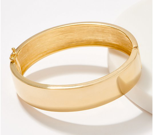 Gold One 1K Gold Bold Polished Hinged Bangle