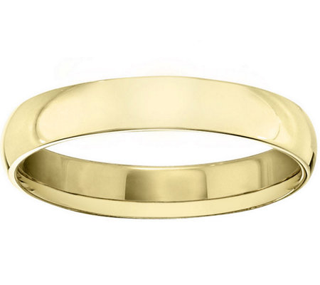 Women's 18K Yellow Gold 4mm Half Round WeddingBand