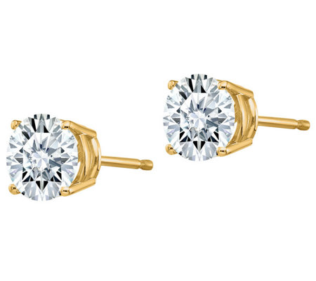 Moissanite 2.00 cttw Round Stud Earrings, 14K