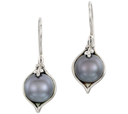 Hagit Sterling Cultured Freshwater Pearl Drop Earrings