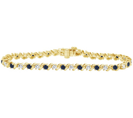 1 50 Cttw Diamond 2 20 Cttw Sapphire Tennis Bracelet