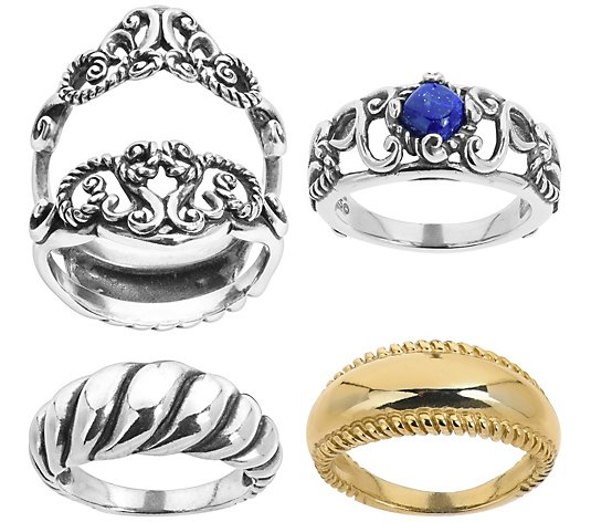 Carolyn Pollack Possibilities Sterling & Lapis Ring Set