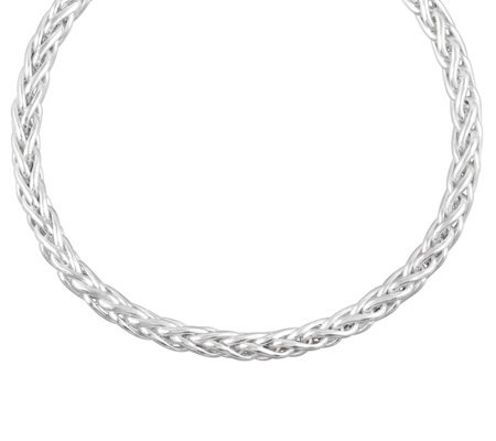 "UltraFine Silver 8"" Bold Wheat Chain Bracelet,5.5g"