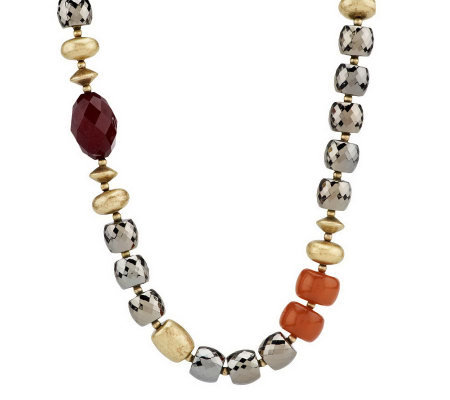 Linea by Louis Dell'Olio Multi-facet Bead Necklace