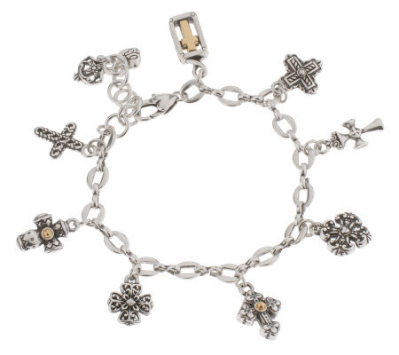 Brighton Eternity Cross Charm Bracelet