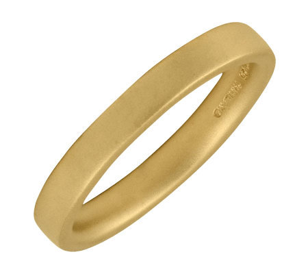 Simply Stacks Sterling 18K Yellow Gold-Plated 3.25mm Ring