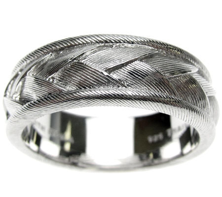 Judith Ripka Sterling Textured Braided Men's Ring