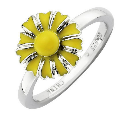 Simply Stacks Sterling Flower of the Month Ring