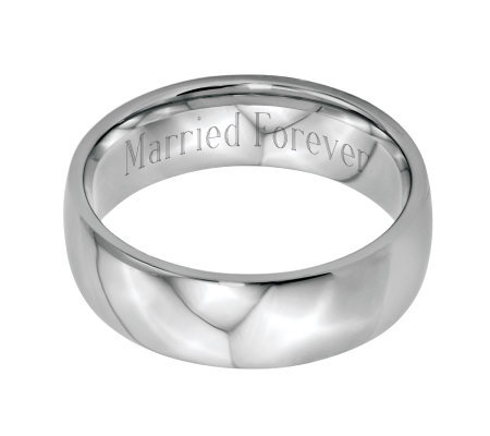 Stainless Steel 7mm Polished Engravable Ring