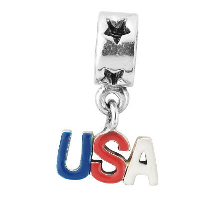 Prerogatives Sterling USA Dangle Bead