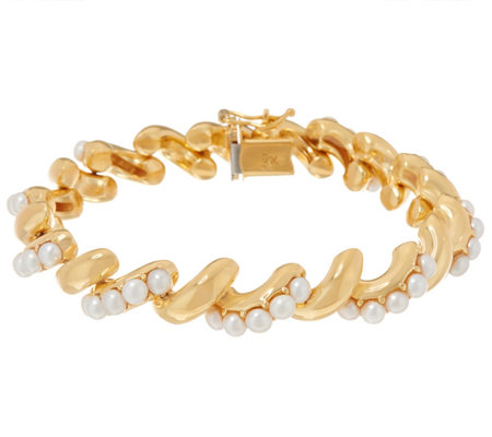 Honora Cultured Pearl 14K Plated San Marco Bracelet