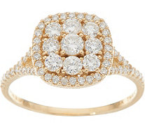 Judith Ripka 14K Gold 1.00 cttw Pave' Diamond Ring - J348262