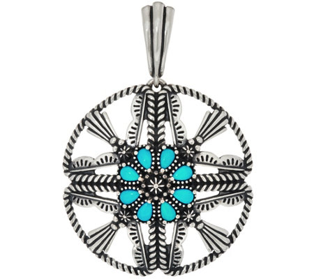 American West Sleeping Beauty Turquoise Circle Enhancer