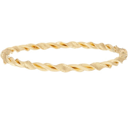 Arte d'Oro Average Satin & Polished Twist Bangle 18K Gold, 6.2g