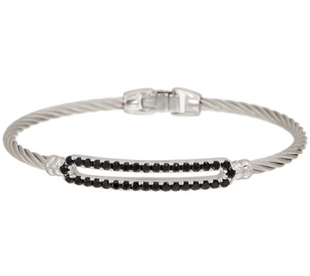 ALOR Cable Stainless Steel & Gemstone Burano Bangle