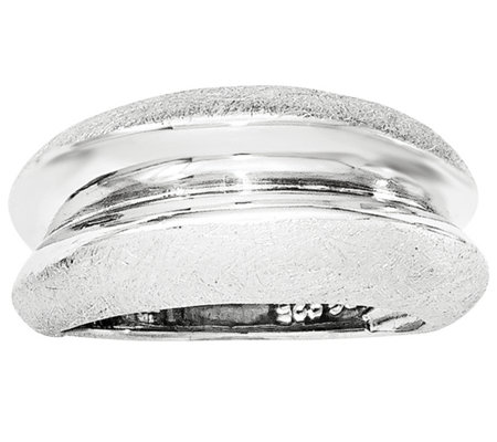 Sterling Silver Polished Satin Channel Ring