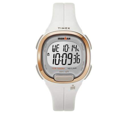 Timex Women's Ironman Transit White Resin StrapWatch
