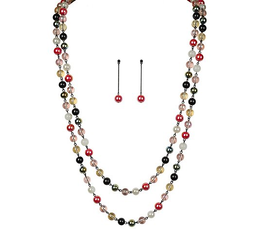 Linea by Louis Dell'Olio Coquette Multi Glass Beaded Set