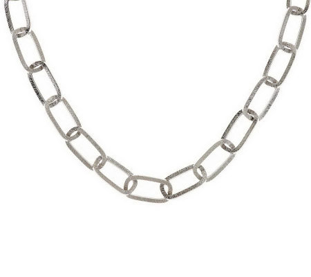 """As Is"" Italian Silver Sterling 18"" Link Necklace, 14.8g"