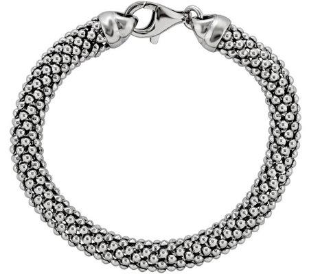 Sterling Silver Beaded Mesh 7 3 4 Bracelet B Ysilver Style