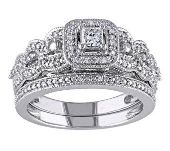 Affinity 1/2 cttw Princess Cut & Round DiamondSet, 14K - J344563