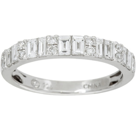 Baguette & White Diamond Band Ring, 18K 1.00 cttw, by Affinity