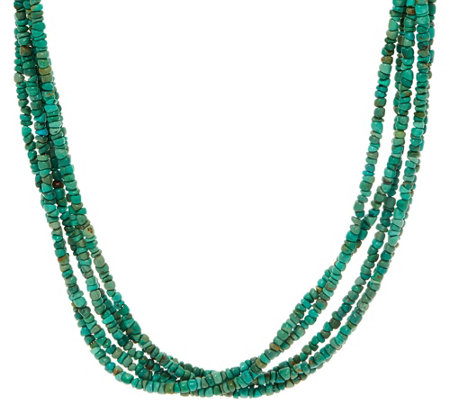 American West Five Strand Freeform Gemstone Bead Necklace