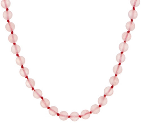 20 inch 8.0mm Gemstone Bead Necklace, Sterling