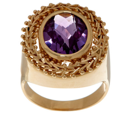 Imperial Gold & Gemstone Ring, 14K Gold