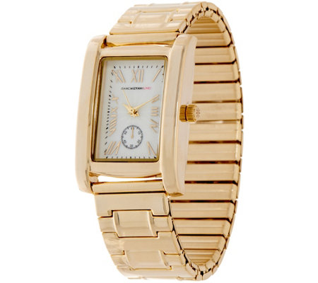 Isaac Mizrahi Live! Rectangular Dial Metal Expansion Watch