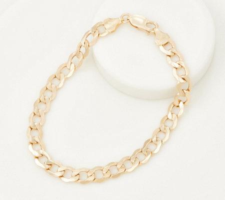 Eternagold Beveled Curb Link Bracelet 14k Gold 4 10g Qvc