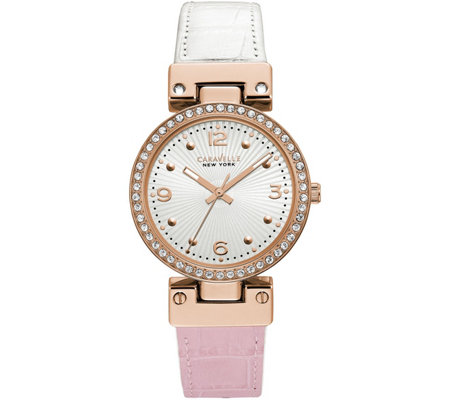 Caravelle New York Women's Rosetone ReversibleWatch