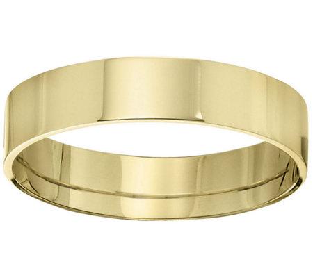 Men S 14k Yellow Gold 5mm Flat Wedding Band