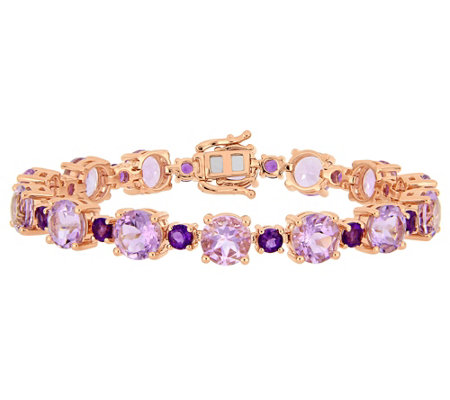 Sterling & 14K 24.65 cttw Multi-Gemstone TennisBracelet