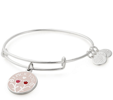 Alex And Ani I Pick You Color Infusion Charm Bangle