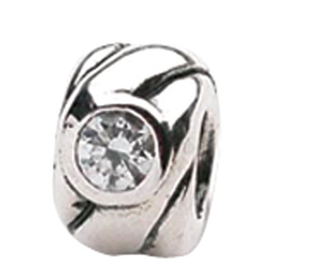 Prerogatives Sterling Cubic Zirconia Bead
