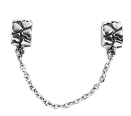 Prerogatives Sterling Security Chain Heart Bead