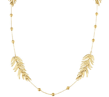 "Linea by Louis Dell'Olio 42"" Palm Leaf Necklace"