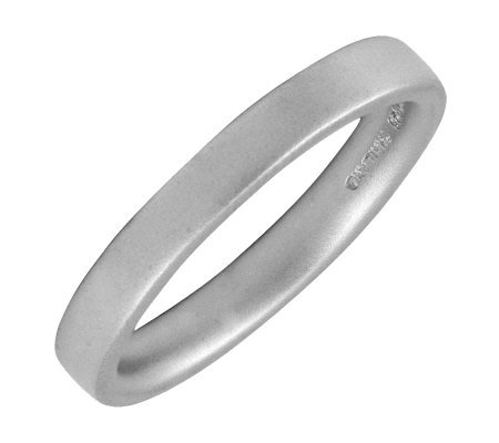 Simply Stacks Sterling Silver Flat Satin 3.25mmRing