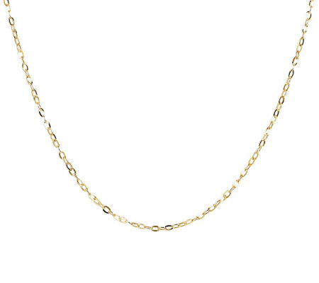 "16"" Fine Hammered Oval Link Chain, 14K Gold"
