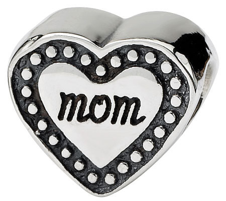 Prerogatives Sterling Mom Heart Bead