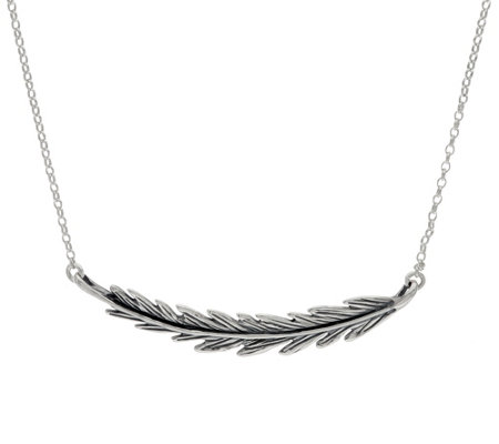 Hagit Sterling Silver Feather Necklace