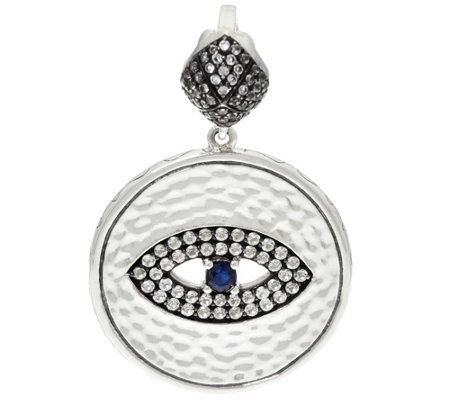 """As Is"" Luv Tia Sterling Silver All Seeing Eye Enhancer"