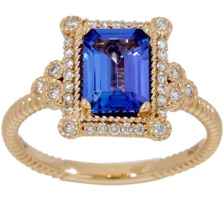 e9fc73bb547cc Judith Ripka 14K Gold Tanzanite Ring, 1.50cttw — QVC.com