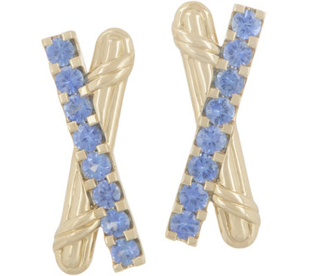 Peter Thomas Roth 18K Gold & Sapphire Criss-Cross Earrings