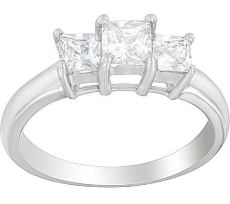 3-Stone Princess Cut Ring, 14K, 9/10 cttw, by Affinity