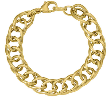 Italian Gold Interlocking Marquise Link Bracelet 14K, 11.9g