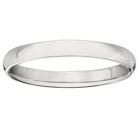 Men's 18K White Gold 3mm High Polish Comfort Fit Wedding Band