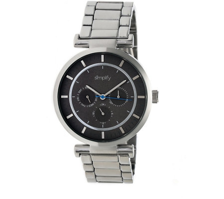 Simplify Stainless Bracelet Watch with Black Dial