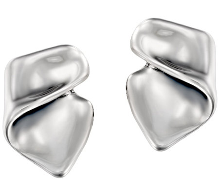 Hagit Sterling Silver Wave Earrings